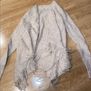 Hollister Fringe Cardigan Small